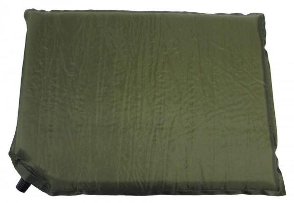 Thermo Sitzkissen selbstaufblasbar in oliv grün