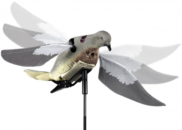 Lucky Duck Flattertaube mit motorisierten Flügeln