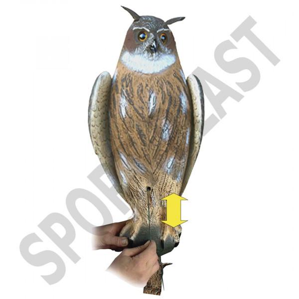 Sportplast Raubvogel Hüttenuhu mit beweglichen Flügeln