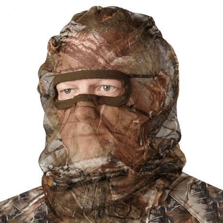 Das Camo Kopfnetz versteckt die Konturen auf der Jagd.