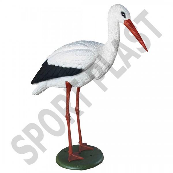 Der Storch ist als Lockvogel weit sichtbar und schafft Vertrauen für das Lockbild.