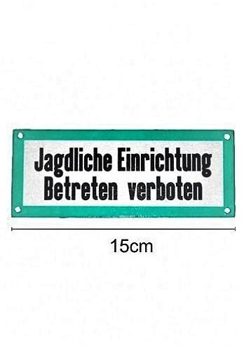 """Warnschild """"Jagdliche Einrichtung"""" Aluminium"""