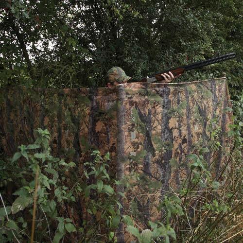 Das Nylon Tarnnetz ist als Tarngardine von außen nicht einsehbar und für die Krähenjagd gut geeigent. .