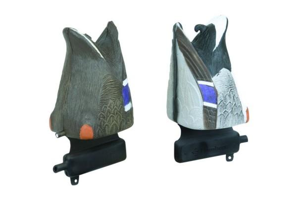 UV-Lockente Stockenten 2er Pack gründelnd