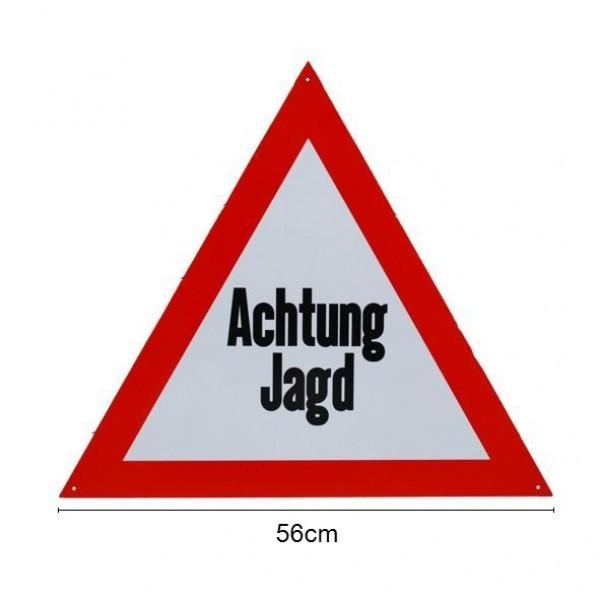 """Warnschild """"Achtung Jagd"""" Aluminium"""