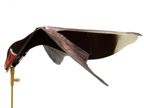 Die Hypa Flap Lockgänse erzeugen auf der Gänsejagd Bewegung durch Wind.