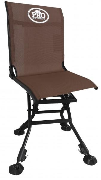 Der Ansitzstuhl von PRO ATTRACT ist drehbar und klappbar und vielseitig auf der Jagd einsetzbar.